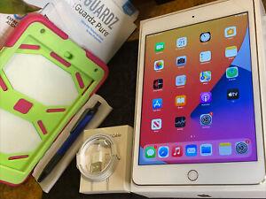 Apple iPad Mini 4 (128gb) Wi-Fi (A1538) Gold: PiNK Defender MiNT {iOS14}93% LooK