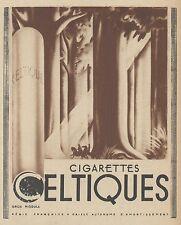 Z9365 Cigarettes CELTIQUES -  Pubblicità d'epoca - 1936 Old advertising