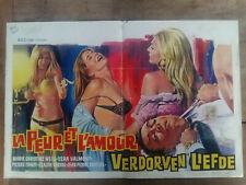 Affiche Belge LA PEUR ET L'AMOUR Verdorven l'efde Vera VALMONT M.WEILL érotique