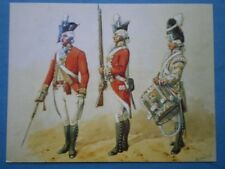 POSTCARD THE 5TH OR NORTHUMBERLAND REGIMENT OF FOOT 1792