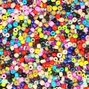 100 Czech Glass Seed Spacer Crystal Glass Beads Jewellery Making Craft - 4mm