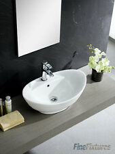 Fine Fixtures 23x14 Oval Shape Bathroom Vessel Sink-MV2315W