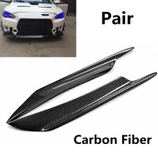 2Pcs Car Carbon Fiber Front Bumper Canard Splitter Fins Anti-Scratch Waterproof