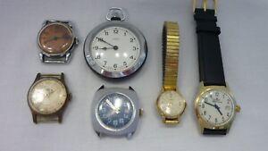 6 Ruhla Uhren teils für Bastler