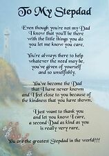 A PERSONALISED POEM FOR A STEPDAD / STEPFATHER -  A4 - LAMINATED GIFT