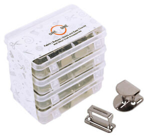 oneOone 25 Sets No-Sew Hook And Bar Closures For Clothing Fastener,-jqa
