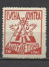 2638-SELLO VIÑETA REPUBLICA GUERRA CIVIL ESPAÑOLA J.S.U , JUVENTUDES SOCIALISTAS