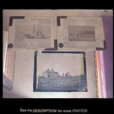 3 Scarce Antique Magic Lantern Glass Slides Robert Peary Expedition North Pole