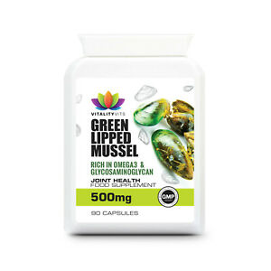 Green Lipped Mussel For Dogs - Cartilage - Joint Health 500MG 90 Capsules UK GMP