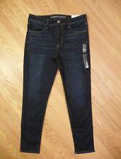Womens NEW AE American Eagle Hi-Rise Jegging Super Stretch Dark Denim Jeans 14 R