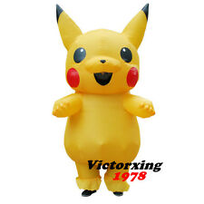 Pikachu Inflatable Costume for Adult Blowup Pokemon Fancy Outfit