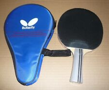 Short Pips-out Butterfly Table Tennis Paddle / Bat with Case: TBC403, New  AUD