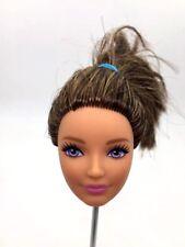 Barbie Fashionista Doll Head Latin Skin Black Hair for Mattel Z13