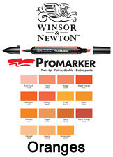 Winsor & Newton Promarker Twin Tip Permanent Markers ORANGES Promarkers Letraset