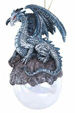 Checkmate Gray Dragon Christmas Ornament Medieval Mythical Fantasy Decoration