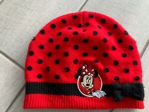 Official Disneyland Paris Girls Minnie Mouse Beanie Hat - Younger Girl