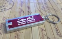 SAM ASH KEY CHAIN WITH LIGHT KEYCHAIN RING MUSIC GUITAR STORE