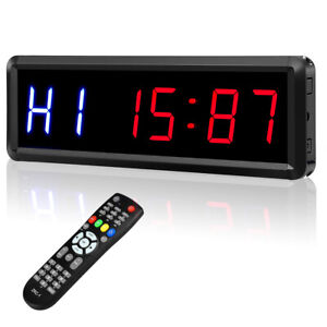 "Seesii Interval Timer Count Down/Up Clock, 1.5"" 6 LED Gym Timer Stopwatch"