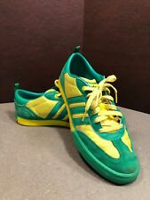 Adidas Sneakers, Green And Yellow, Mens Size 8 G30888