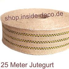 25 Meter Polstergurt Polstergurte Möbelgurte Gurtband Jutegurt Jutegurte A70
