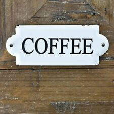 """COFFEE White and Black 7"""" Metal Sign"""