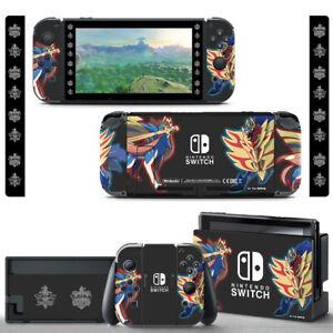 Pokemon Sword and Shield Vinyl SKIN Screen Protector for Nintendo Switch Joy-Con