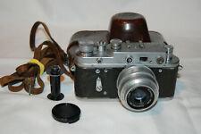 Zorki-2c Vintage 1958 Rangefinder Camera and Industar Lens. No.58927607. UK Sale