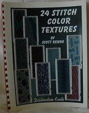 24 Stitch colore Texture BOOK standard Gauge per Maglieria SCOTT Renno M071