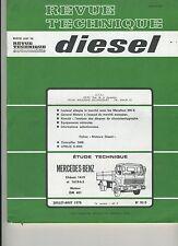 (1B)REVUE TECHNIQUE DIESEL MERCEDES BENZ chassis 1419 et 1619-k-S / MOTEUR OM401