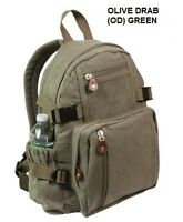 Canvas MINI BACKPACK Hiking Camping Eco Friendly Urban Back To School Book Bag