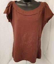 US Polo Assn Womens Brown Paisley Design Shirt Top Blouse Size L