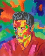 Modern art acrylic painting portrait commissiofrom your photo 40 x 50cm