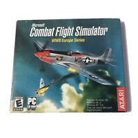 Atari Video Game PC Microsoft Combat Flight Simulator WWII Europe Series NIP