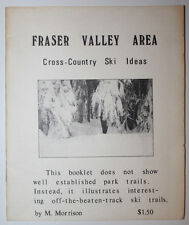 Fraser Valley Cross-Country Ski Ideas Canada Signed 1976 16 Page Book Brochure