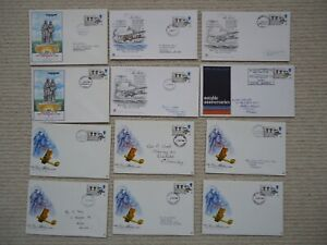 12X 1969 ALCOCK & BROWN First Day Covers Connoisseur Stuart Philart GPO Aviation
