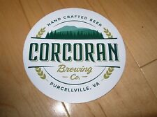 CORCORAN BREWING CO Virginia Circle Logo Sticker decal craft beer brewery