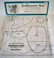 New ListingQuilt In A Day Sunbonnet Sue And Sam Pre-Printed Patterns By Eleanor Burns Nip