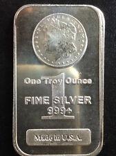 1978 Highland Mint Morgan Silver Dollar Design Silver Art Bar A2827