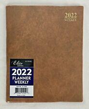 2022 Weekly Day Planner Calendar Organizer Agenda Appointment Book Tan 8x10
