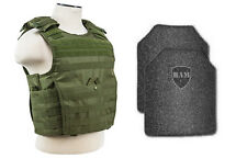 Body Armor | Bullet Proof Vest | AR500 Steel Plates | Base Frag Coating- EXP OD