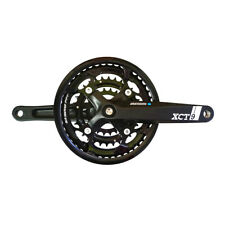 SR Suntour XCT9 9-speed Chainsets 44x32x22t 175mm Black With Cover
