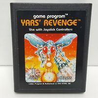Yars Revenge (Atari 2600, 1981) Video Game Cartridge Only