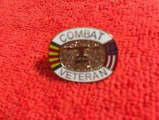 Combat Veteran Vietnam Hat Pin
