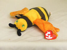 Buzzie 2001 TY Beanie Babie 6in yellow and black plush Bee beanbag toy 4354