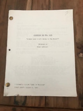 """Scarecrow and Mrs. King TV show script - """"Always Look A Gift Horse in the Mouth"""""""