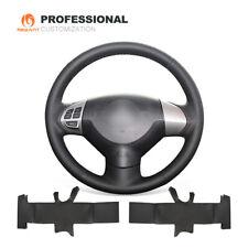Black Leather Steering Wheel Cover Wrap for Mitsubishi Lancer EX Outlander ASX