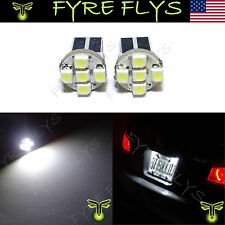 2 Pcs Xenon White 5-SMD 168 194 2825 LED Bulbs For Car License Plate Lights #Z1