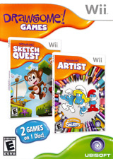 Drawsome! 2 Games 1 Disk: Sketch Quest And Artist Ft The Smurfs For Wii Very