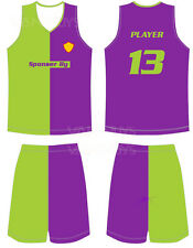 15 Custom sublimation basketball jersey uniform complete set for teams and clubs