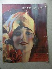 "C.C Church & Co. ""Dear Heart"" Song Sheet Music, 1919 *FREE SHIPPING*"